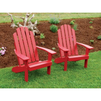 Kennebunkport Yellow Pine Adirondack Chair - Tractor Red