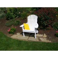 Fan Back Yellow Pine Adirondack Chair - White