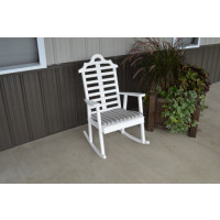 Marlboro Yellow Pine Porch Rocker - White w/ Cushion