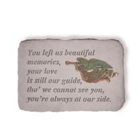 You left us beautiful memories Memorial Garden Stone w/ Angel