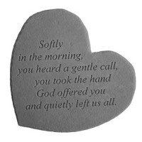 Softly in the morning...Small Heart Memorial Garden Stone