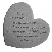 This is a journey we all must take...Small Heart Memorial Garden Stone