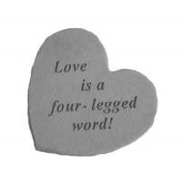 Love is a four-legged word! Small Heart Decorative Garden Stone