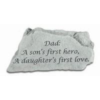 Dad: A son's first hero...Decorative Garden Stone