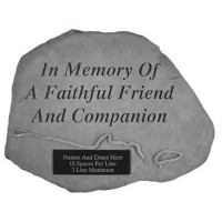 In memory of a faithful friend...with leash & collar Pet Memorial Garden Stone