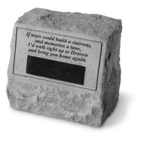If tears could build a stairway...Memorial Headstone w/ urn