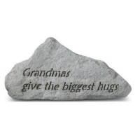 Grandmas Give the Biggest Hugs Decorative Garden Stone