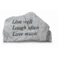 Live Well, Laugh Often, Love Much Decorative Garden Stone