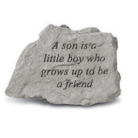 A son is a little boy...Decorative Garden Stone