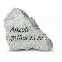 Angels Gather Here Decorative Garden Stone