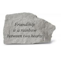 Friendship is a rainbow...Decorative Garden Stone