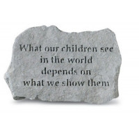 What our children see in the world...Decorative Garden Stone