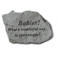 Babies! What a wonderful way...Decorative Garden Stone