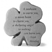 A sunbeam to warm you...Decorative Shamrock Garden Stone