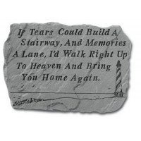 If Tears Could Build a Stairway...Memorial Garden Stone w/ Lighthouse