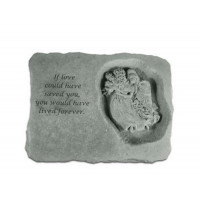 If love could have saved you...Memorial Garden Stone w/ Angel