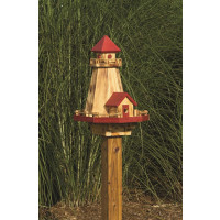 Lighthouse Bird Feeder & Bird House Combo