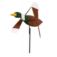 Mallard Duck Whirlybird Garden Stake