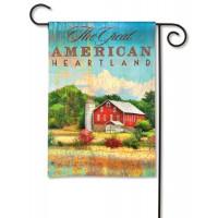 Red Barn Garden Flag