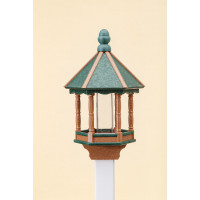Medium Polywood Bird Feeder - Green/Cedar