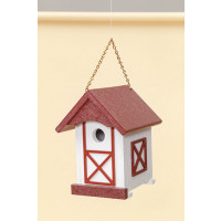 Polywood Barn Wren House - Cherry/White