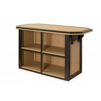 3' x 4' Poly Summerside Bar - Weatherwood & Black