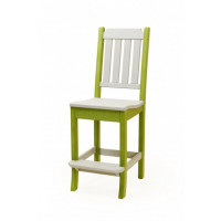 Keystone Poly Bar Chair - Gray & Lime Green