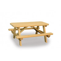 Kids Picnic Table with Attached Benches - Pressure Treated Pine