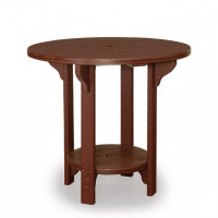 "48"" Round Poly Bar Table - Brown"