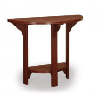 "45"" Half Round Poly Bar Table - Brown"