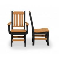 Keystone Poly Dining Chair w/ Arms - Cedar & Black