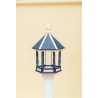 Large Polwood Bird Feeder - Navy/Ivory