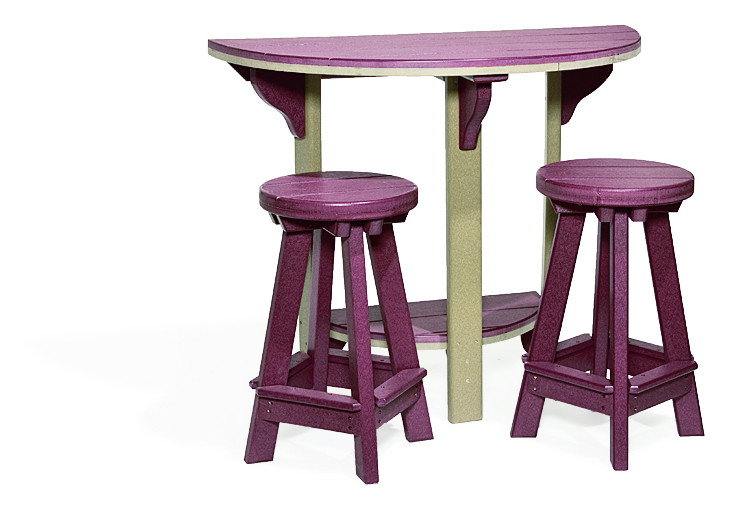 Poly Barstool - Burgundy (Half Round Table Sold Separately)