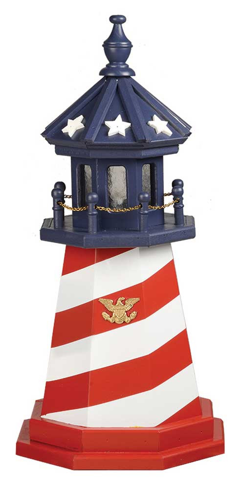 2' Amish Crafted Wood Garden Lighthouse - Cape Hatteras