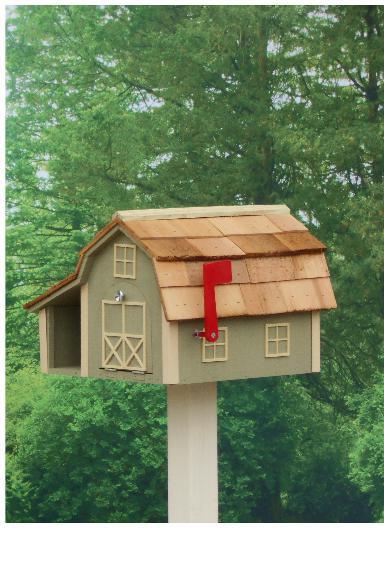 Traditional Barn Mailbox Combo - Wildgrasses & Beige