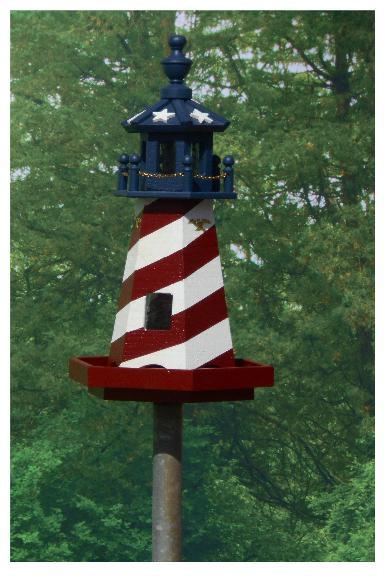 Stars & Stripes Lighthouse - Red & White