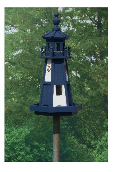 Cape Henry Lighthouse - Navy & White