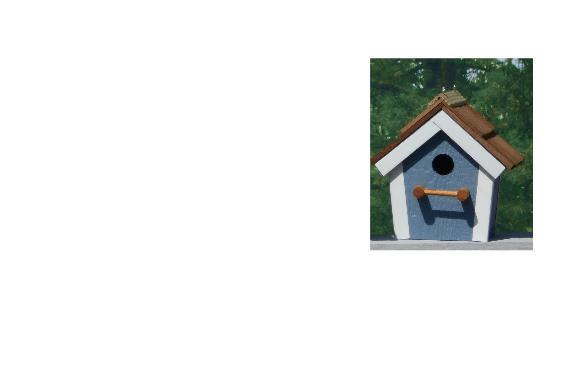 Cedar Roof Birdhouse - Belmont Blue & White