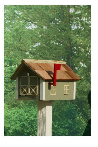 Traditional Dutch Barn Mailbox - Wildgrasses & Off White