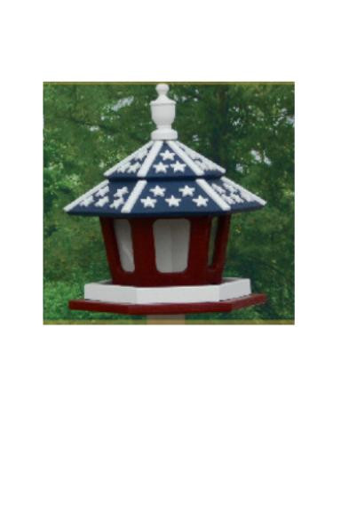 3 Compartment Bird Feeder - Stars & Stripes