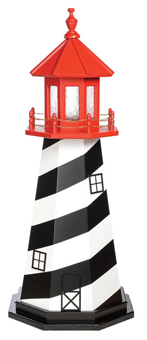 4' St. Augustine Wooden Lighthouse