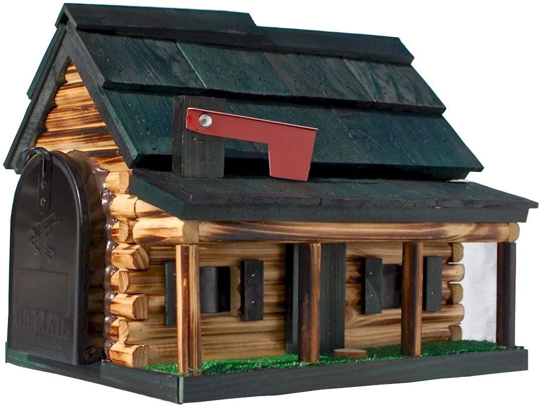 Log Cabin Mailbox - Greef roof