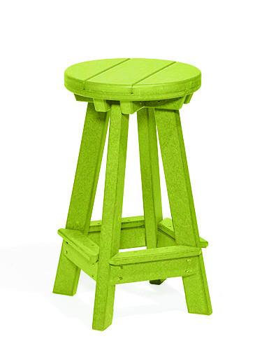 Poly Barstool - Lime Green