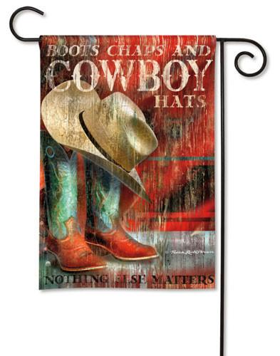 Cowboy Boots Garden Flag