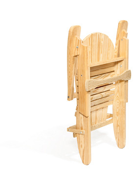 Folding Adirondack Chair - Shown folded