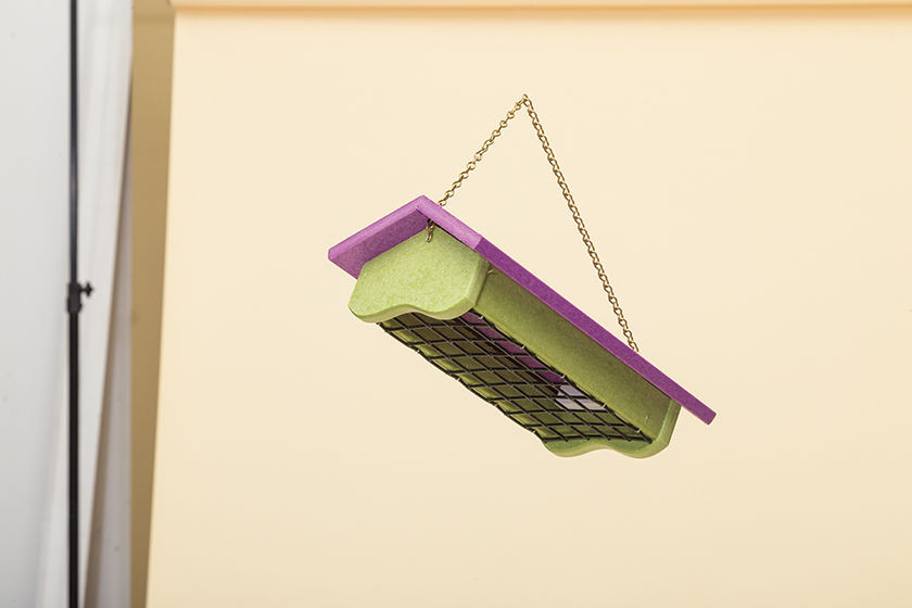 Polywood Suet Feeder - Lime Base and Purple Roof