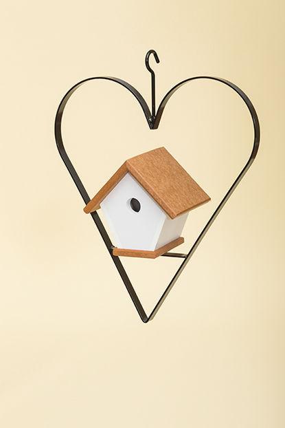 Polywood Wren House with Heart - Cedar