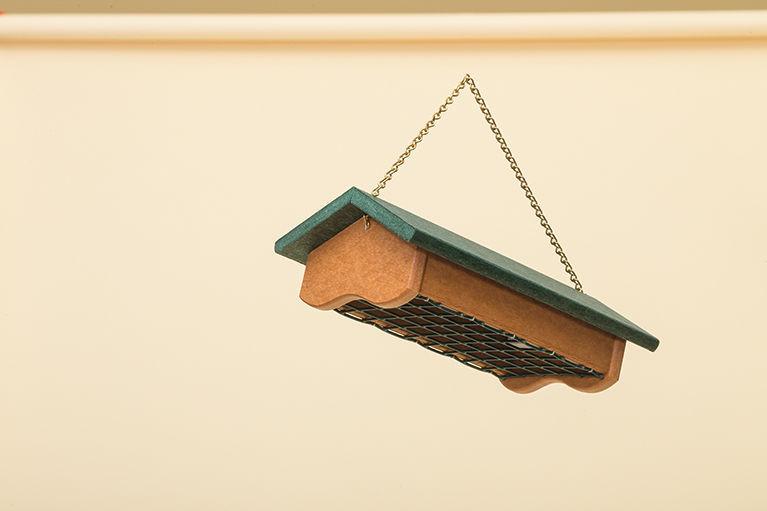 Polywood Suet Feeder - Cedar Base and Green Roof