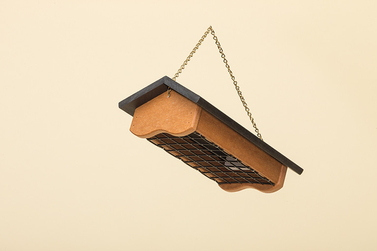 Suet Feeder - Poly - Shown with Cedar base and Turf Green Roof
