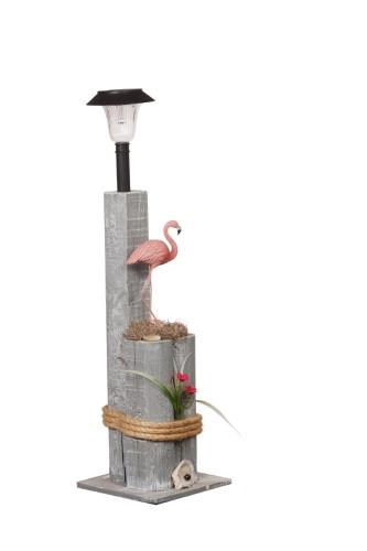 Flamingo Nautical Solar Post